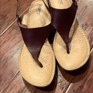 Born sandals, size 8, leather upper